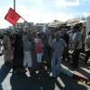 احتجاج أصحاب العربات اليدوية المصادرة من سوق مولاي التهامي بوزان + فيديو