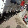 انهيار قنطرة حديثة البناء عند مرور شاحنة عليها بجماعة بني كلة إقليم وزان