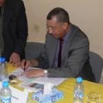 السيد أحمد السينيتي يوقع