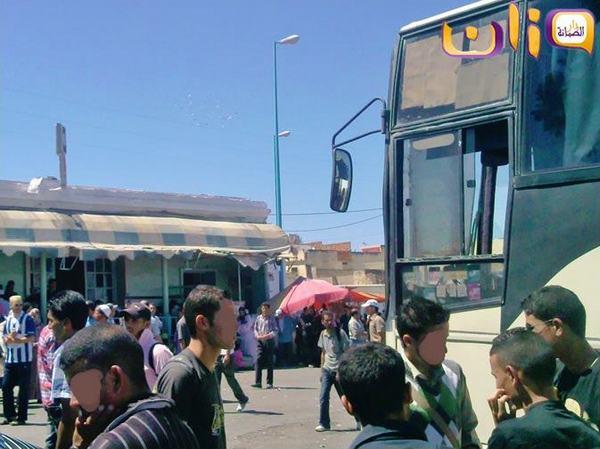 صورة لمسافرين بالمحطة الطرقية لوزان