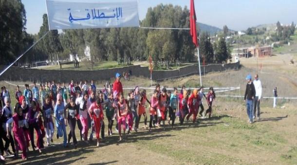 صورة من البطولة الإقليمية للعدو الريفي المدرسي بنيابة وزان لموسم 2011-2012م