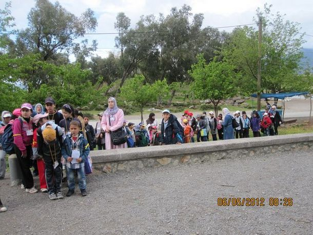 الأطفال خلال الرحلة