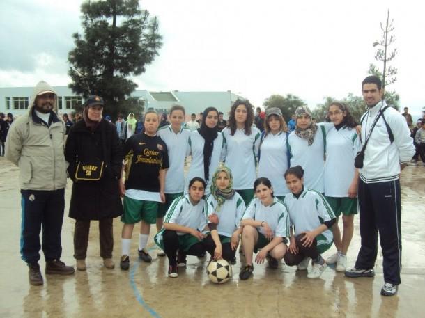 فريق ثانوية ابن زهر النسوي لكرة القدم