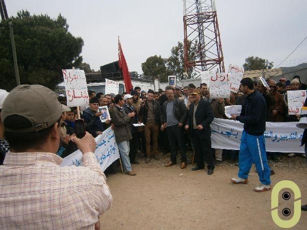 الاحتجاجات بجماعة المجاعرة إقليم وزان
