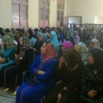 جانب من الحضور في القاء تحسيسي وتوعوي لمنظمة فتيات الانبعاث بوزان