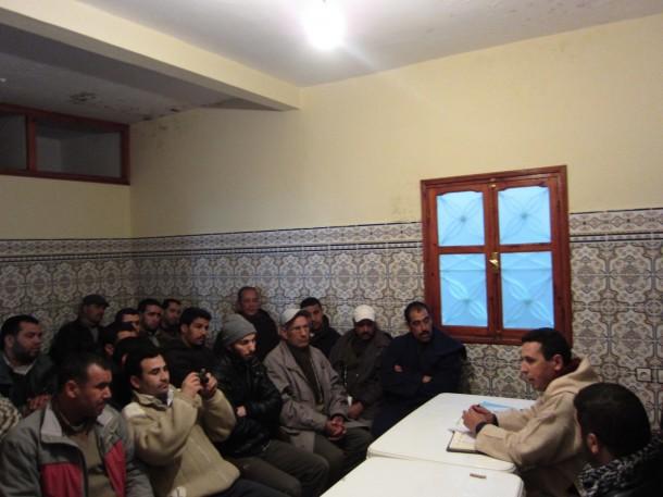 النائب البرلماني عبد الحليم علاوي يتواصل مع اعضاء ومتعاطفي فرع لمجاعرة