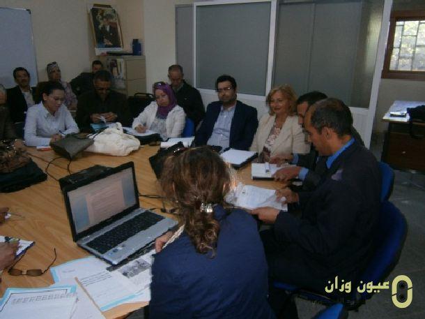 اجتماع اللجنة الإقليمية لتنسيق مشروع دعم تدبير المؤسسات التعليمية PAGESM بنيابة وزان