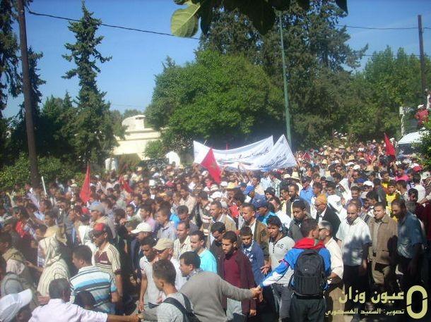 الاحتجاجات على الطريق الجهوية 408 (صورة من الارشيف)