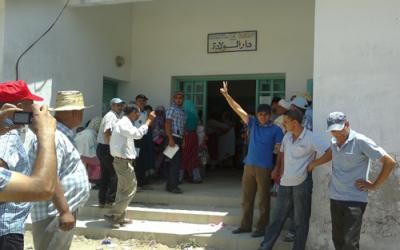 احتجاجت سكان مقريصات على الوضع الصحي