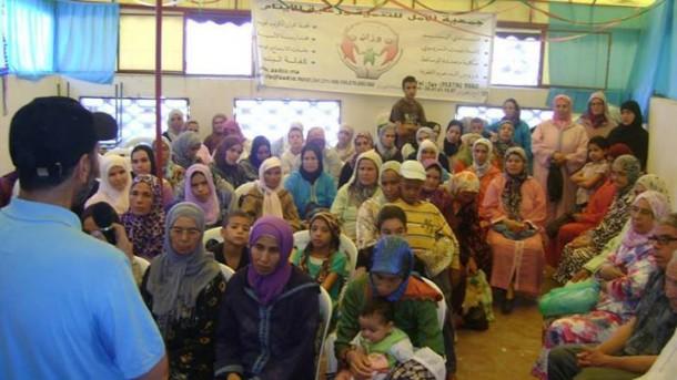 جمعية الامل للتنمية ورعاية الايتام بوزان توزع القفة الرمضانية غلى أسر الأيتام