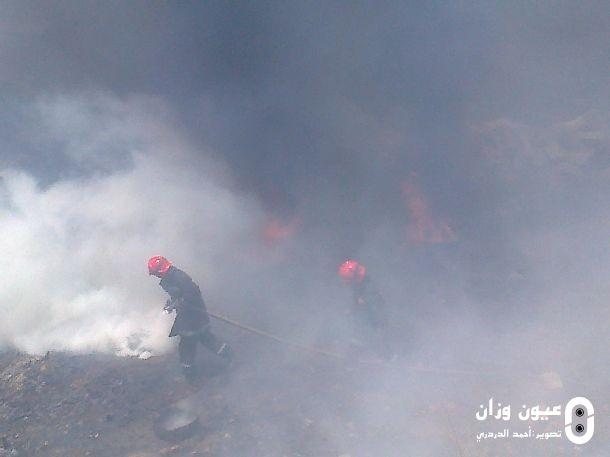 حريق بالقرب من تجزئة الزيتون طريق الرباط