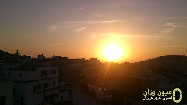 غروب الشمس بمدينة وزان