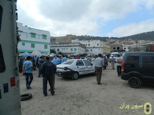 """السلطات تمنع الباعة من عرض سلعهم في ساحة """"وطية الوزكاني"""""""