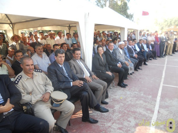 جانب من الحاضرين في عيد المدرسة بنيابة وزان