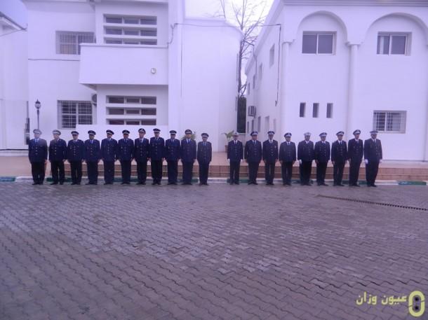 الضابط محمد الحجوي الثاني من على يمين الصورة