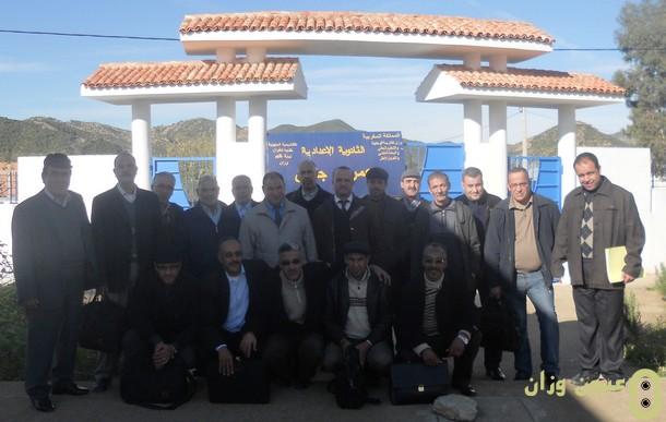 جماعات الممارسات المهنية اللكـوس في لقاء تواصلي بثانوية عمر بن جلون الإعدادية بنيابة وزان