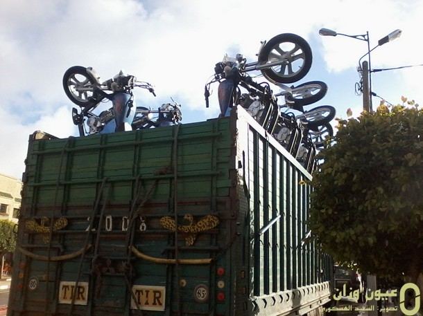 دراجات نارية ثلاثية العجلات مجهزة بمبرد