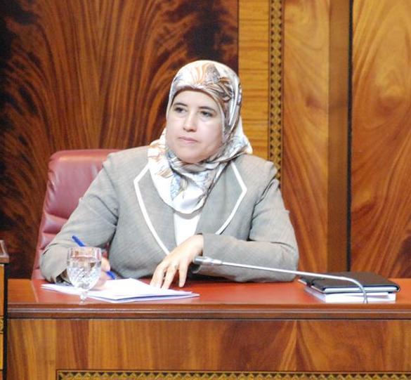 جميلة المصلي التي عينت وزيرة منتدبة لدى وزير التعليم العالي والبحث العلمي وتكوين الأطر.