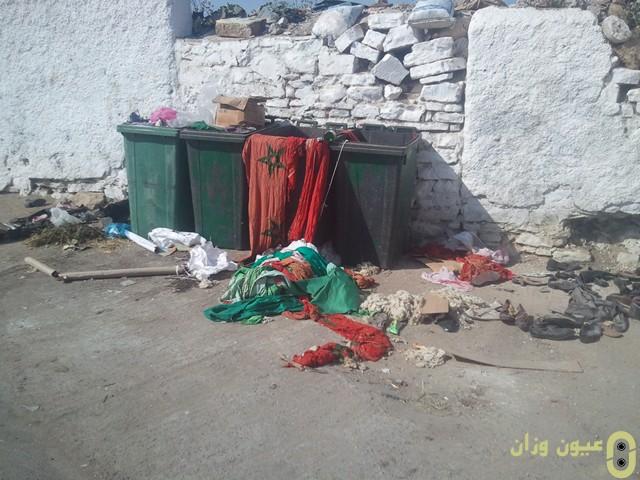 احتقار العلم الوطني بوزان والسلطات غائبة