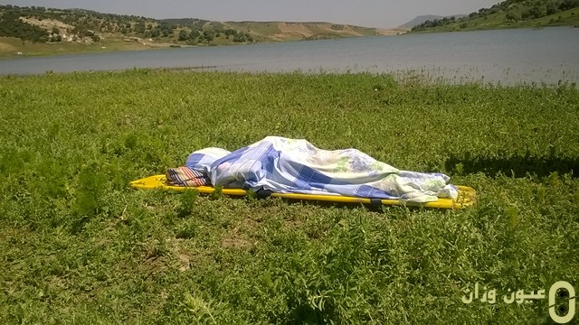 وفاة تلميذ غرقا بسد واد الاثنين جماعة مصمودة إقليم وزان - بعدسة: محمد غريب