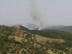 حريق غابة عين ابقار بجماعة ابريكشة