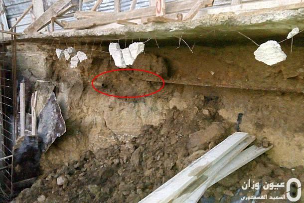 صورة توضح الأنبوب الذي انفجر