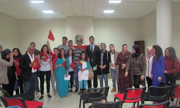 الثانوية التأهيلية مولاي عبد الله الشريف بوزان تحتفي بالذكرى 61 لعيد الاستقلال