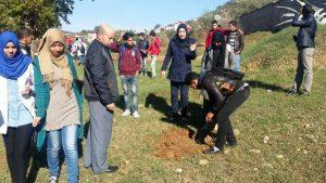 """ثانوية عمر الخيام التأهيلية بتروال تنخرط في المبادرة الوطنية """"مليون شجرة في يوم واحد فقط"""""""