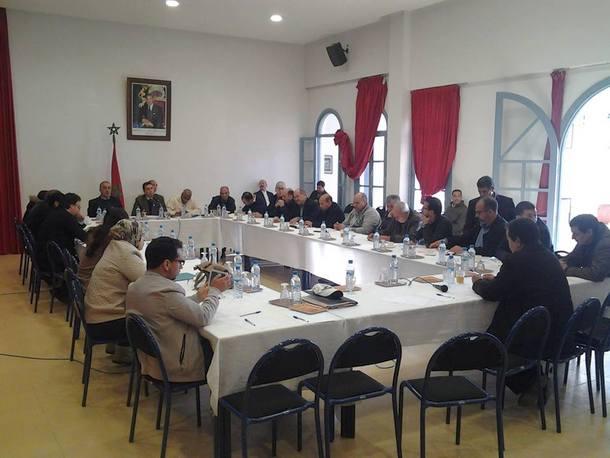 أعضاء المجلس خلال انعقاد الدورة الاستثنائية