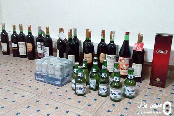 كميات الخمور التي قامت عناصر الشرطة بحجزها
