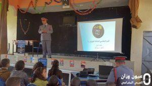 مدرسة الغزوات بمقريصات إقليم وزان تنظم حملة تحسيسية باليوم الوطني للسلامة الطرقية