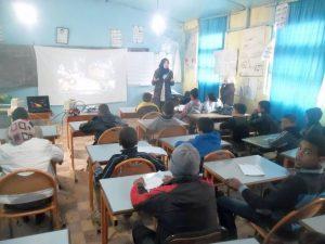 المختبر المتنقل بين مؤسسات التعليم الابتدائي العمومي والخصوصي بوزان يحط الرحال بمدرسة المسيرة 2 بأسجن