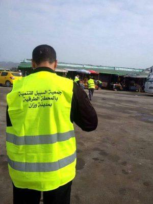 جمعية السبيل للتنمية بالمحطة الطرقية وزان تنظم حملة نظافة بالمحطة الطرقية