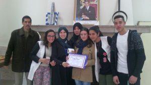 تكريم التلميذة الحاصلة على أعلى معدل بثانوية مولاي عبد الله الشريف بوزان بمناسبة اليوم العلمي للمرأة