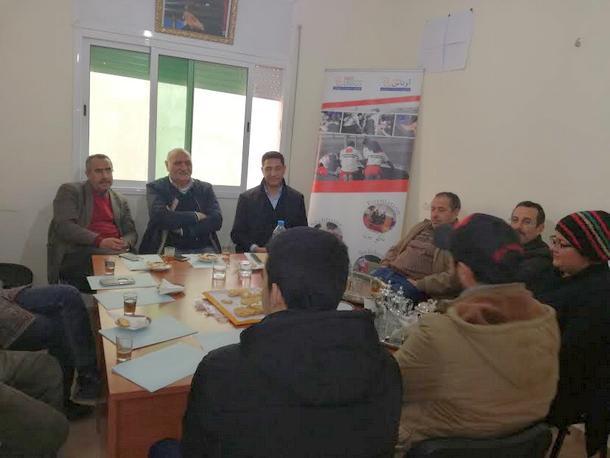 إحداث فرع المنظمة UNASS MAROC بوزان
