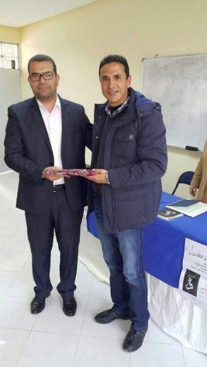الثانوية التأهيليىة علال الفاسي بابريكشة تحتفي بالكاتب محمد لغويبي