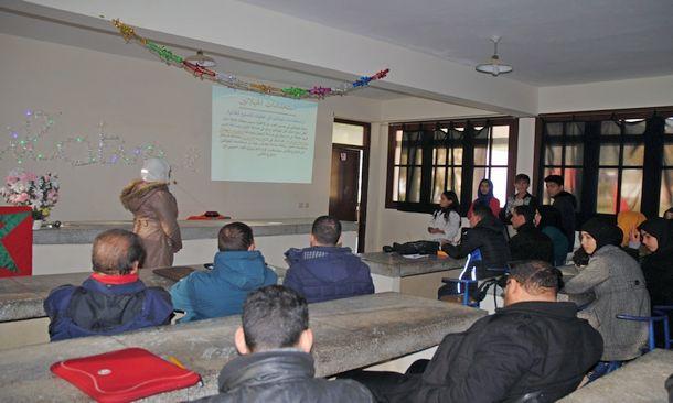 نادي التفوق الدراسي والرحلات بثانوية 3 مارس التأهيلية بسيدي رضوان ينظم أمسية علمية