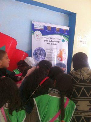 نادي البيئة بمدرسة مسقة.كم في زيارة لمعرض المناخ بثانوية مولاي التهامي الإعدادية بوزان