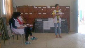 مؤسسة علال الفاسي التأهيلية بابريكشة إقليم وزان تشارك في مسابقة متعة القراءة