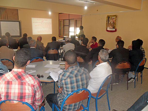 """رؤساء وأمناء الجمعيات الرياضية بالمؤسسات التعليمية في دورة تكوينية حول """"التدبير المالي والإداري للجمعية"""""""