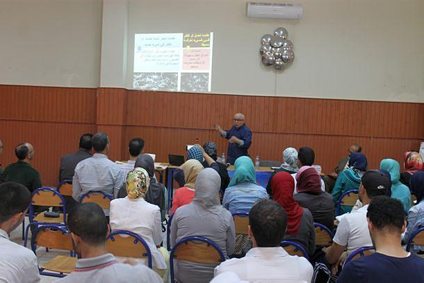 الدكتور عبد الواحد الفقيهي خلال النشاط