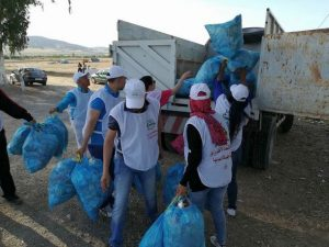 جمعية الاقتصاد الأخضر من أجل البيئة والعدالة المناخية بوزان تطلق حملة نظافة