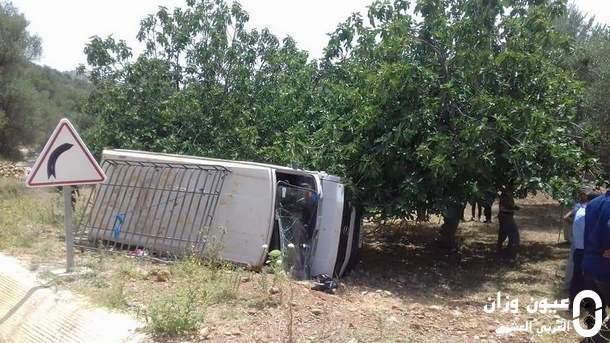 السيارة التي وقعت لها الحادثة