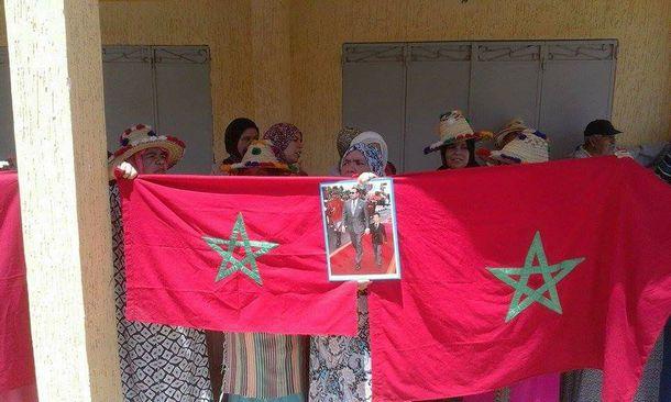 نساء من جماعة سيدي بوصبر شاركن في الوقفة الاحتجاجية