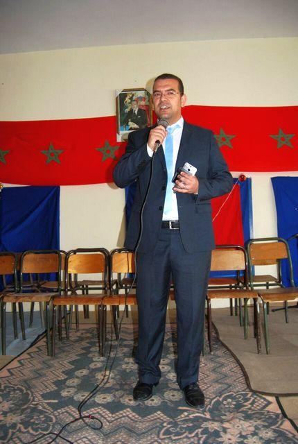 مدير الثانوية السيد عبد الله رياحي خلال كلمته الافتتاحية