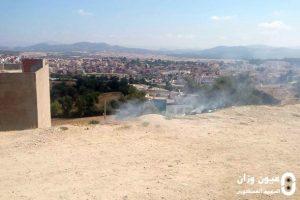 حرق أزبال بأحياء سكنية بوزان